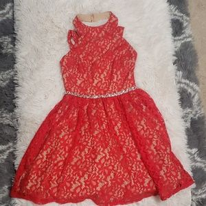Size 1 red lace dress